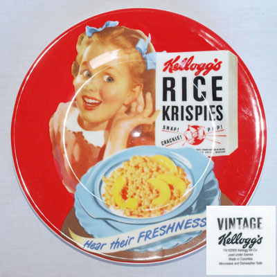 RETRO KELLOGG'S RICE KRISPIES PLATES