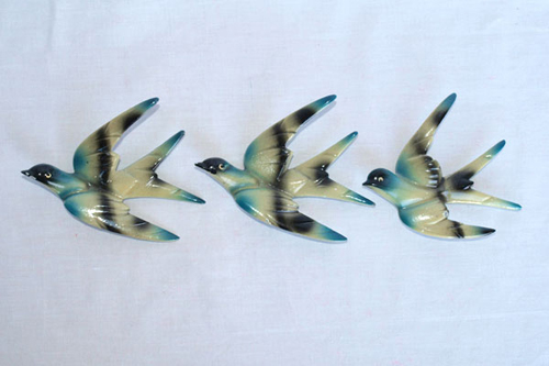 A SET OF 3 FLYING SWALLOWS 1930's